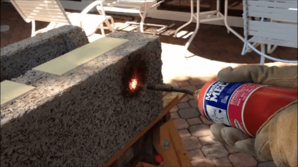 Faswall is a fire resistant building material for walls
