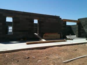 DIY home builder home in progress