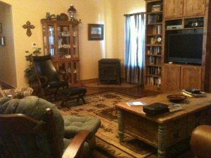 DIY homebuilder Faswall home interior